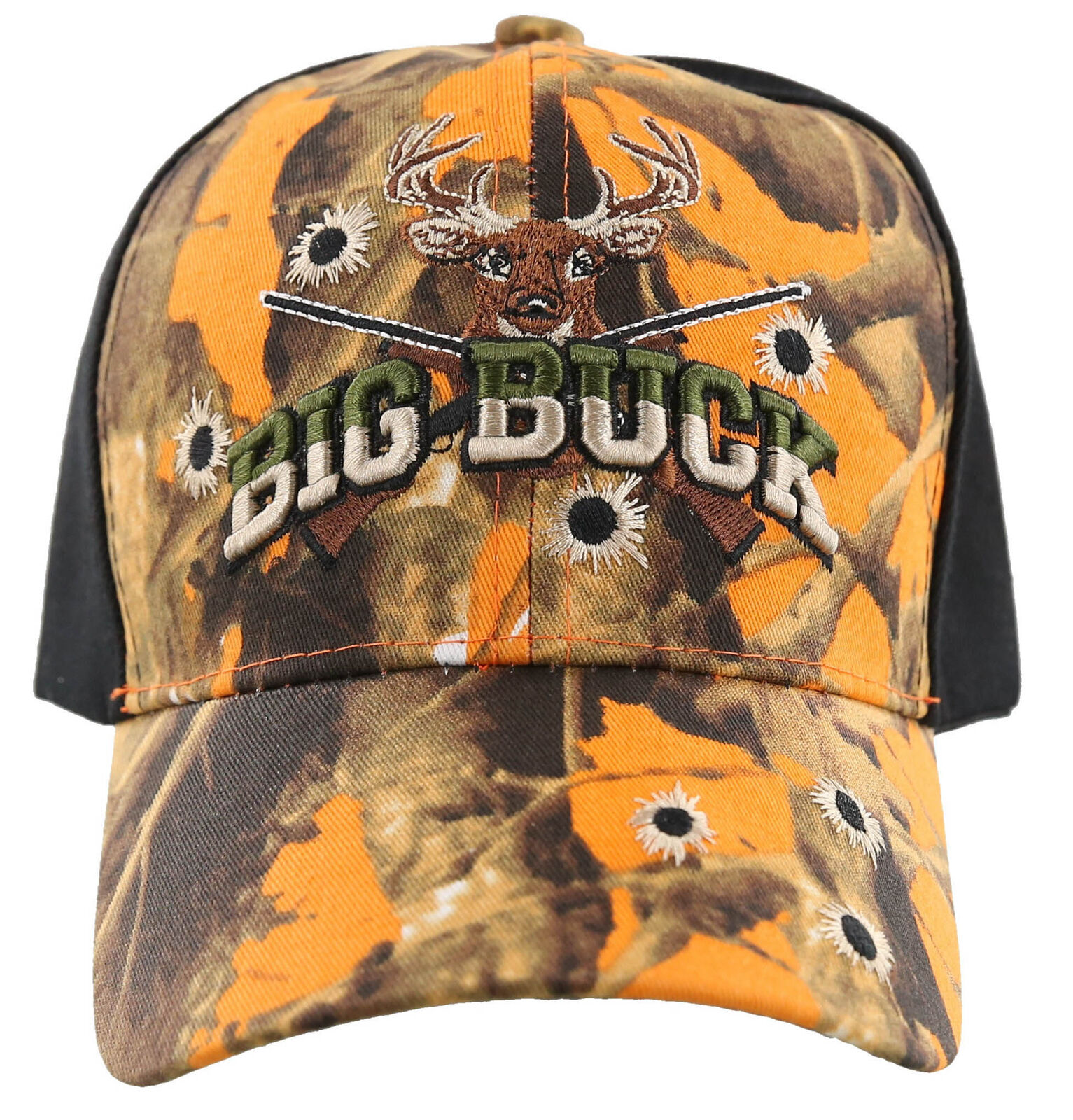 ! nuevo! gran Buck Hunter Caza Ciervo Buck Deportes al Aire Libre Gorra Sombrero Camuflaje Negro Naranja