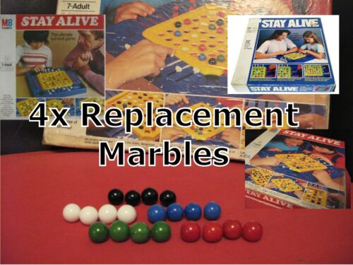 MB Games vintage Stay Alive de remplacement//rechange billes boules x4-Jeu marbels