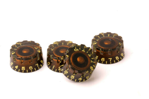 "Speed /""Grip/"" Knobs Black/'N/'Gold Ltd for US//CTS Potis Set 4 fits Gibson®"
