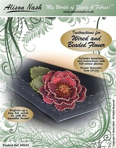 Plantillas e instrucciones para Wired /& cuentas Flor-Apto Para Principiantes!
