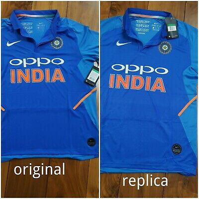India Cricket world cup 2019 UK XLARGE SIZE oppo bleed blue replica