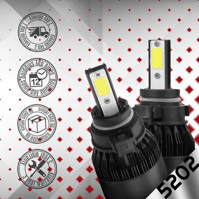 For 2007-2016 GMC Sierra 3500 HD LED Fog Light Bulbs 5202 H16 Kit White 6000K