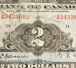 1935-Canada-2-English-Version-Rare-First-Bank-of-Canada-Series-Note