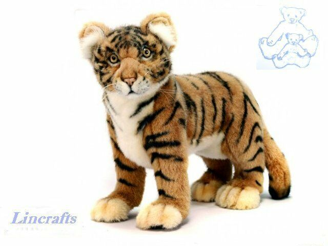 Hansa Tiger Standing 4264 Plush Soft Toy Sold by Lincrafts Established 1993