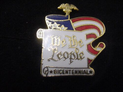 "GERALD FORD ERA Presidential WE THE PEOPLE /""BICENTENNIAL /"" Lapel Pin"