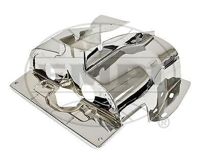 VW BUG SINGLE PORT CYLINDER HEAD SHROUD TIN CHROME PAIR VOLKSWAGEN BEETLE