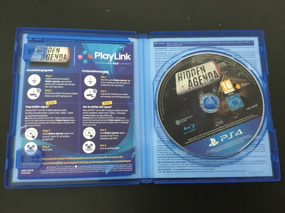 Hidden Agenda, PS4, adventure
