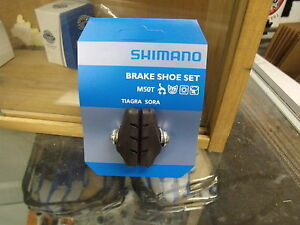 SHIMANO SORA//105 M50T CALIPER BICYCLE BLACK BRAKE PADS--1 PAIR