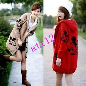 Women s Cardigan Hoodies Sweater Jacket Fleece Knit Coat Fur Lined ... 7c1ddcaf7