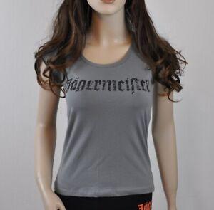 Jägermeister USA Damen T-shirt Größe M grau - Logo Motiv