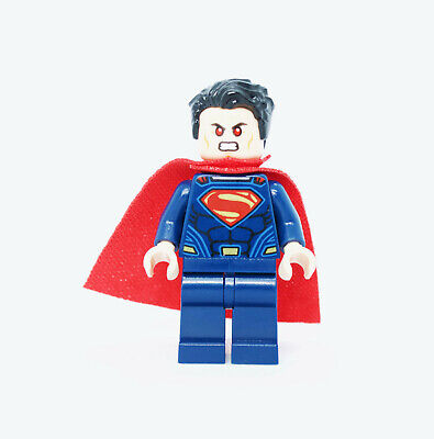Tousled Hair 76044 76087 Super Heroes Minifigure Lego Superman Dark Blue Suit