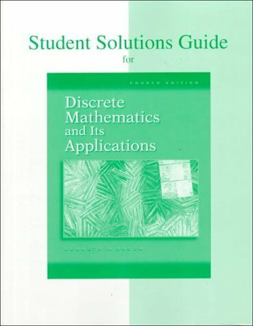Discrete Math Solutions Guide By Kenneth Rosen 1998 Paperback
