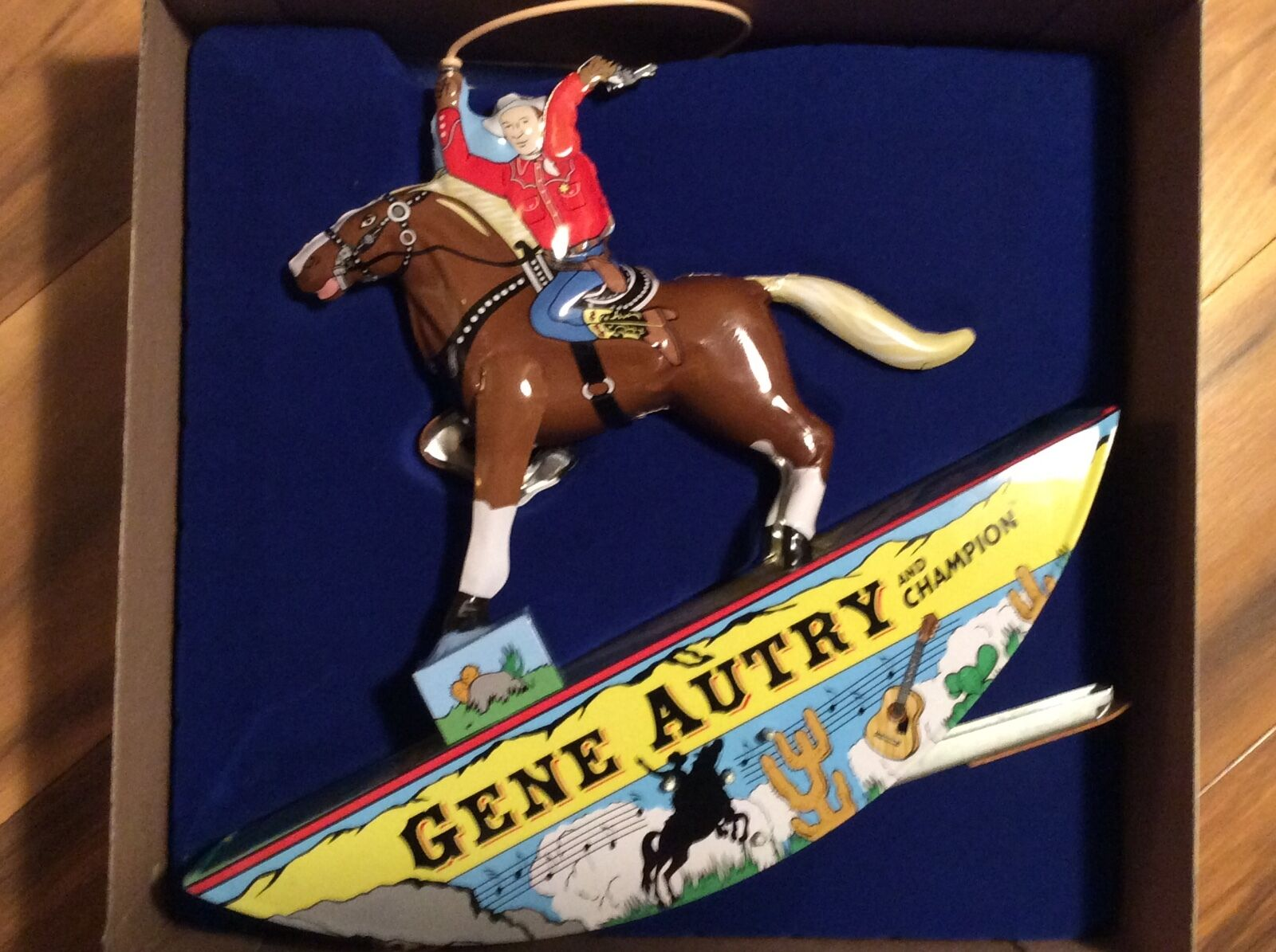 Gene Autry lata Schylling Wind Up Juguete Nuevo En Caja + certificado De Autenticidad Nuevo en Paquete