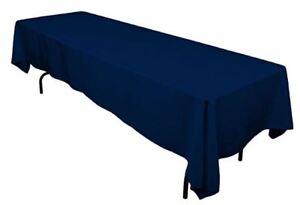 Navy Blue Rectangle Tablecloth 60 X 126