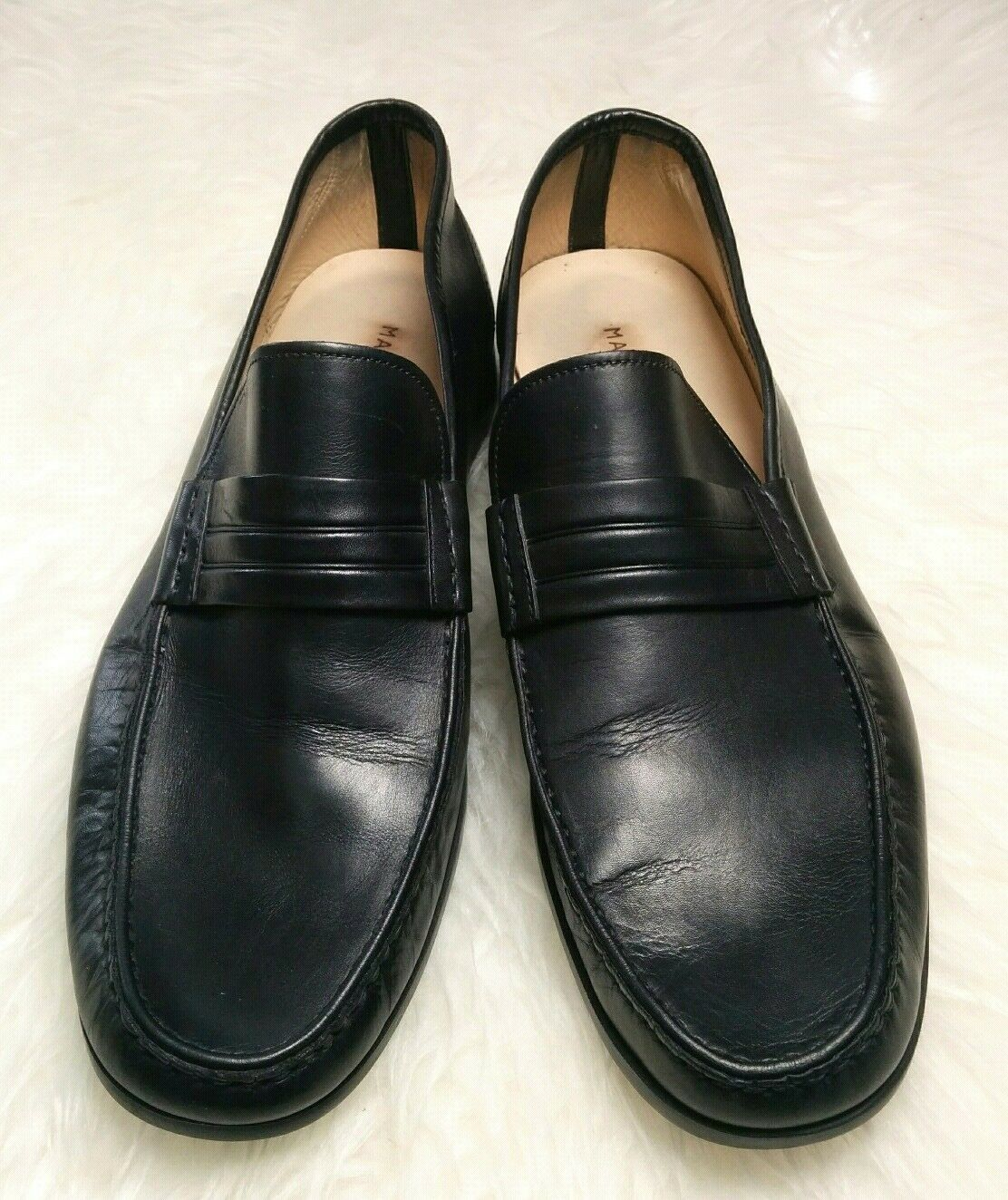 Magnanni Men's Black Penny Loafers Slip On Extra Light Made in Spain shoes 10 M