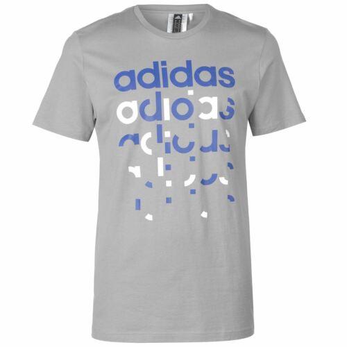 adidas Herren Fragment Linear T Shirt Top Kurzarm Rundhals Freizeit Bequem