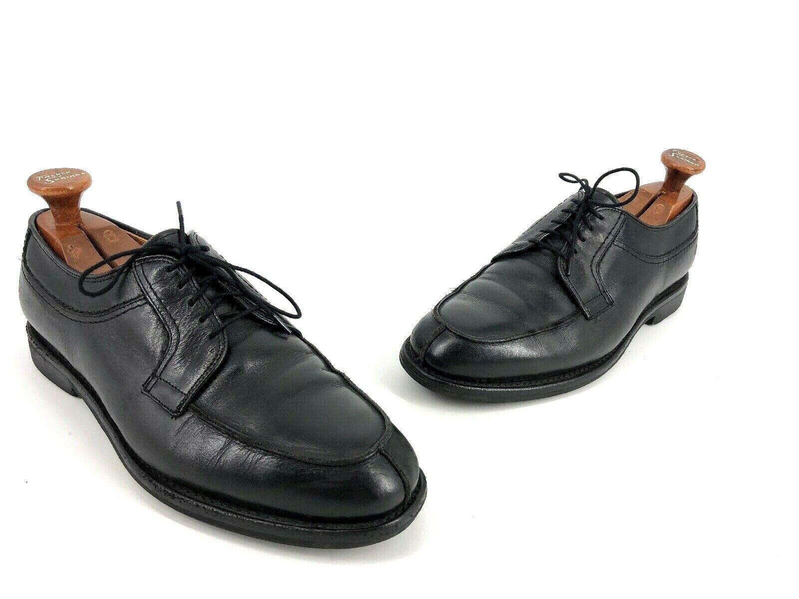 Allen Edmonds Stockbridge Black shoes Oxford Lace Up Dress 9 D (Bin F3)