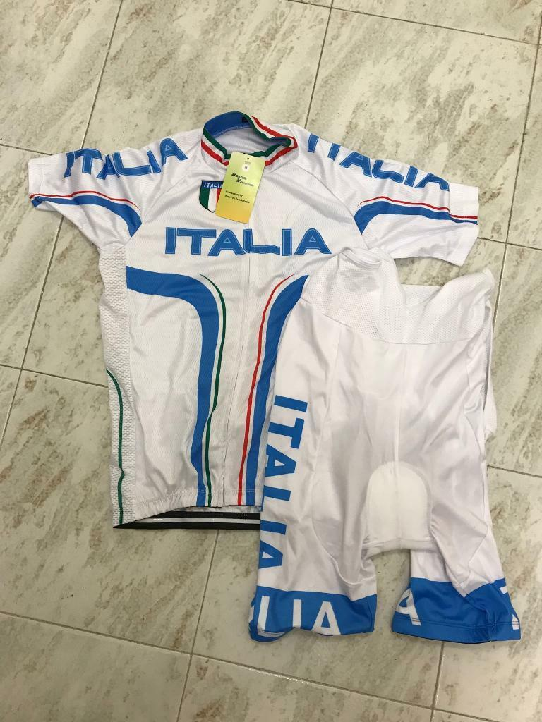 COMPLETO CICLISMO BICI MAGLIA  SALOPETTE TAGLIA M MTB CYCLING SET 2019