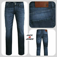 Mens Jack & Jones Designer Slim Fit Straight Tapered Leg Denim Jeans Stylish