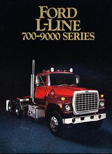 1984 Ford LN-Series LN-600 LN-700 LN-7000 Truck Dealer Sales Brochure