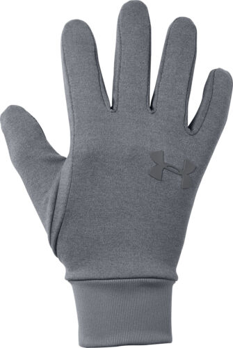 Under Armour Liner 2.0 Running Gloves Grey Ultra Soft Knit Warm Winter Glove