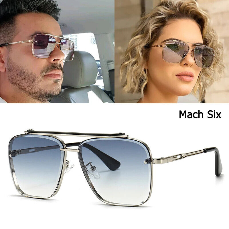 Classic Mach Six Pilot Sunglasses Men Fashion Driving Outdoor Shades For Womens