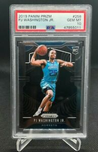 2019 Panini Prizm PJ Washington Jr. ROOKIE RC #258 PSA 10 GEM MINT