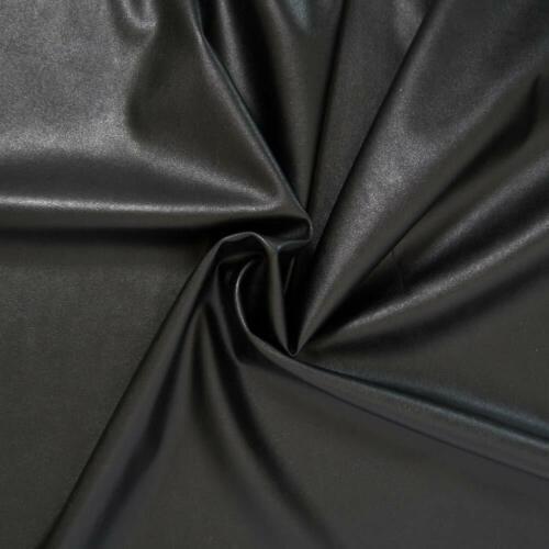 1m x 1m36 faux cuir noir Très belle qualité Tissu simili cuir noir stretch
