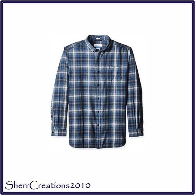 d65ca4bcb65 Columbia Men's Cooper Lake Shirt Big and Tall Long Sleeve Various Colors 2x  Phoenix Blue Ombre