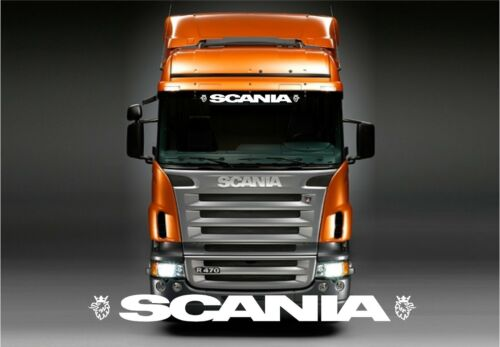 Scania Truck Griffin sticker solid letters style //decal for cab windscreen glass