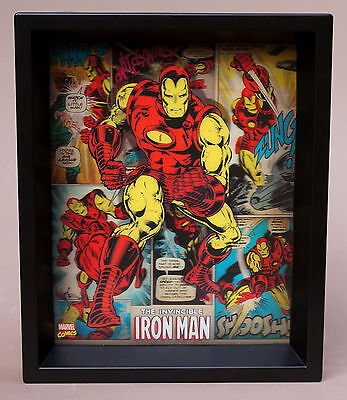 """Marvel Comics 3D Hologram The Invincible Iron Man 11.5"""" x 9.5"""" Lenticular Art"""