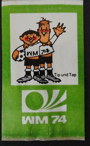 Fan-Aufkleber Tip And Tap Mascot Football World Cup 1974 Germany