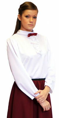 Victorian//Edwardian//Steampunk GOVERNESS WHITE BLOUSE All Ages//Sizes