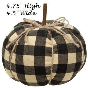 "Buffalo Check Pumpkin Halloween Harvest Fall Orange Cream 4.75/"" x 4.5/"" Farmhouse"