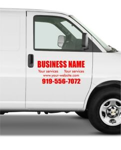UNITS Van Car Truck Side Custom Vinyl Decal Lettering Sticker - Custom vinyl stickers for trucks