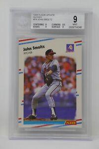 1988 Fleer Update Glossy #74 John Smoltz Rookie Braves Beckett 9 MINT