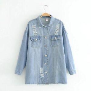 Élégant Chemisier 4580 En Bleu Manches À Longues Jeans Perles Chemise SxAS18wf
