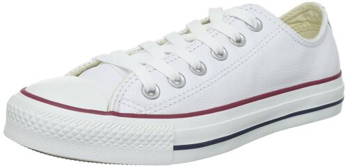 Unisex Leather Converse Chuck Trainers All Star Lo Taylor White w4q7wYH