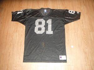 arrives 2c94c 628e2 Details about Vintage Oakland Raiders Tim Brown #81 CHAMPION Jersey Men's  48 Football NFL!!