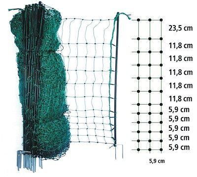 Elektrischer grüner Zaun Weidezaun 12-50m lang 65-112cm elektrifizierbar Strom