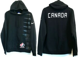 valor por dinero fuerte embalaje a juego en color Nike Team Canada Hockey Fleece Pullover Hoodie Men's Medium Black ...