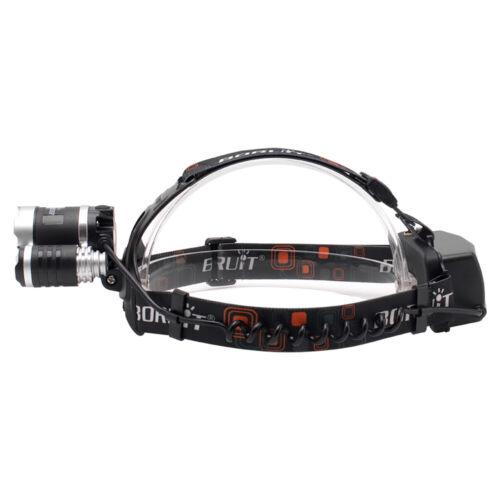BORUiT RJ-5000 13000LM Headlamp XM-L T6+2R5 LED Headlight+AC//Car//USB Charger Kit
