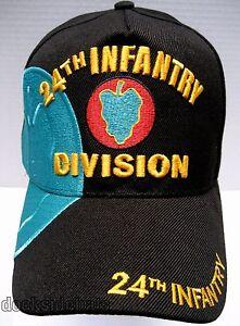 6654fd408e7 24TH INFANTRY DIVISION VETERAN Cap Hat Black New Military FREE ...