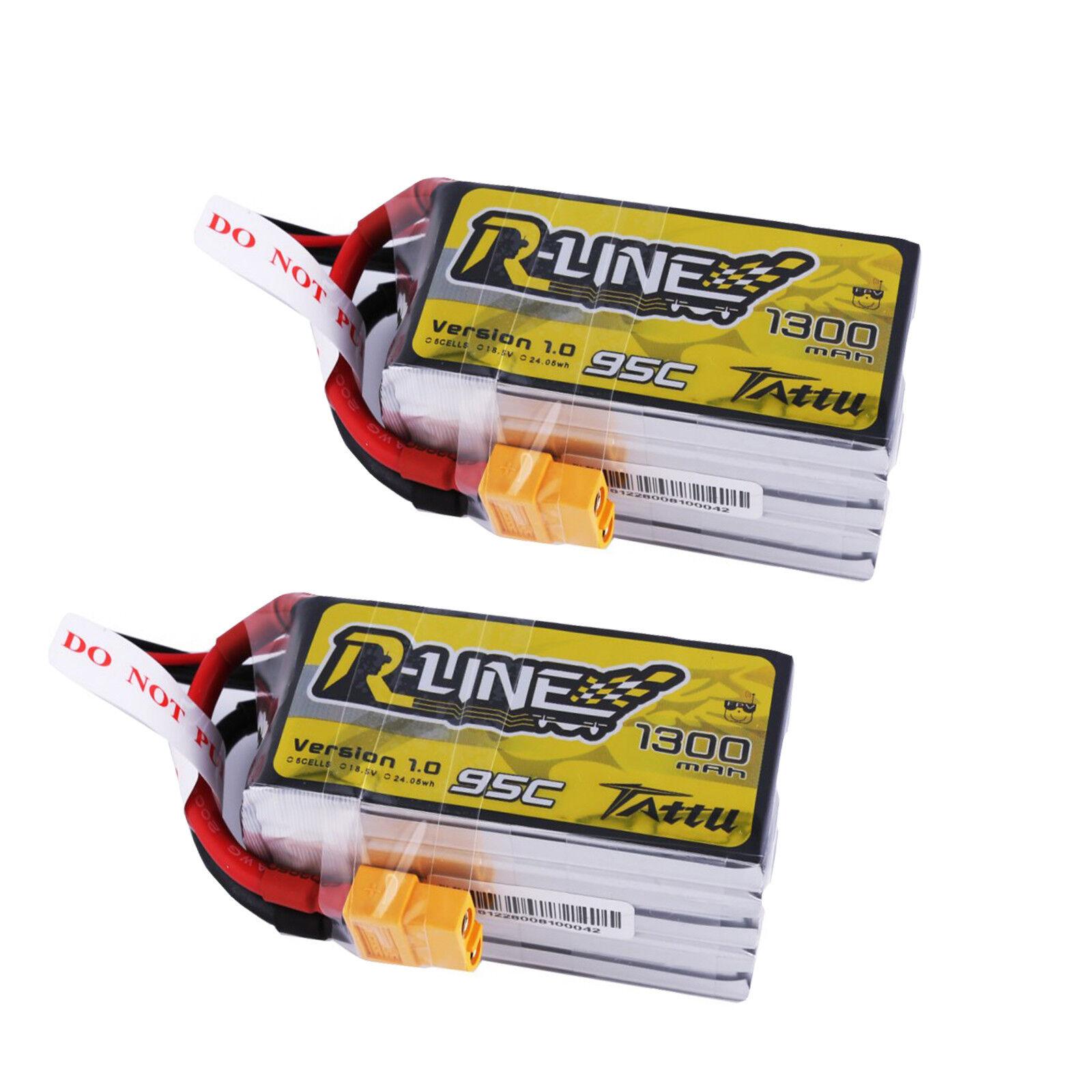 2x 1300mah 18.5v 95c 5s1p Lipo  Batteria Accumulatore per FPV Drone RACING spina xt60  è scontato