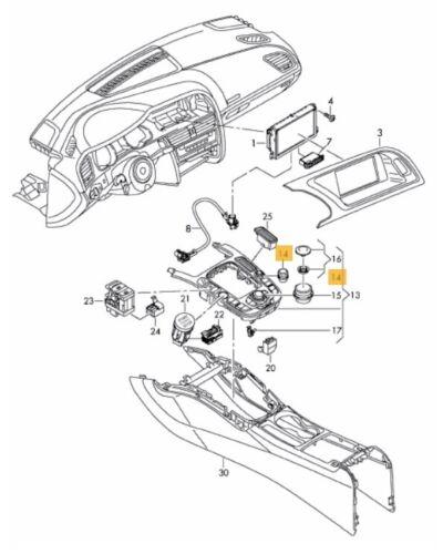 NUOVE Originali AUDI A4 ALLROAD A4 A5 Q5 controllo volume manopola rotante 8T0919070B