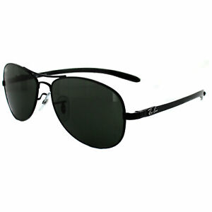 f1e7a90454bf Image is loading Ray-Ban-Sunglasses-8301-002-Black-Green-56mm