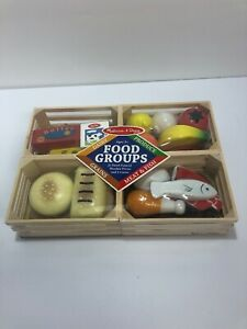 Melissa Doug Food Groups Wooden Play 271 Brand New Toy Time 772002714 Ebay