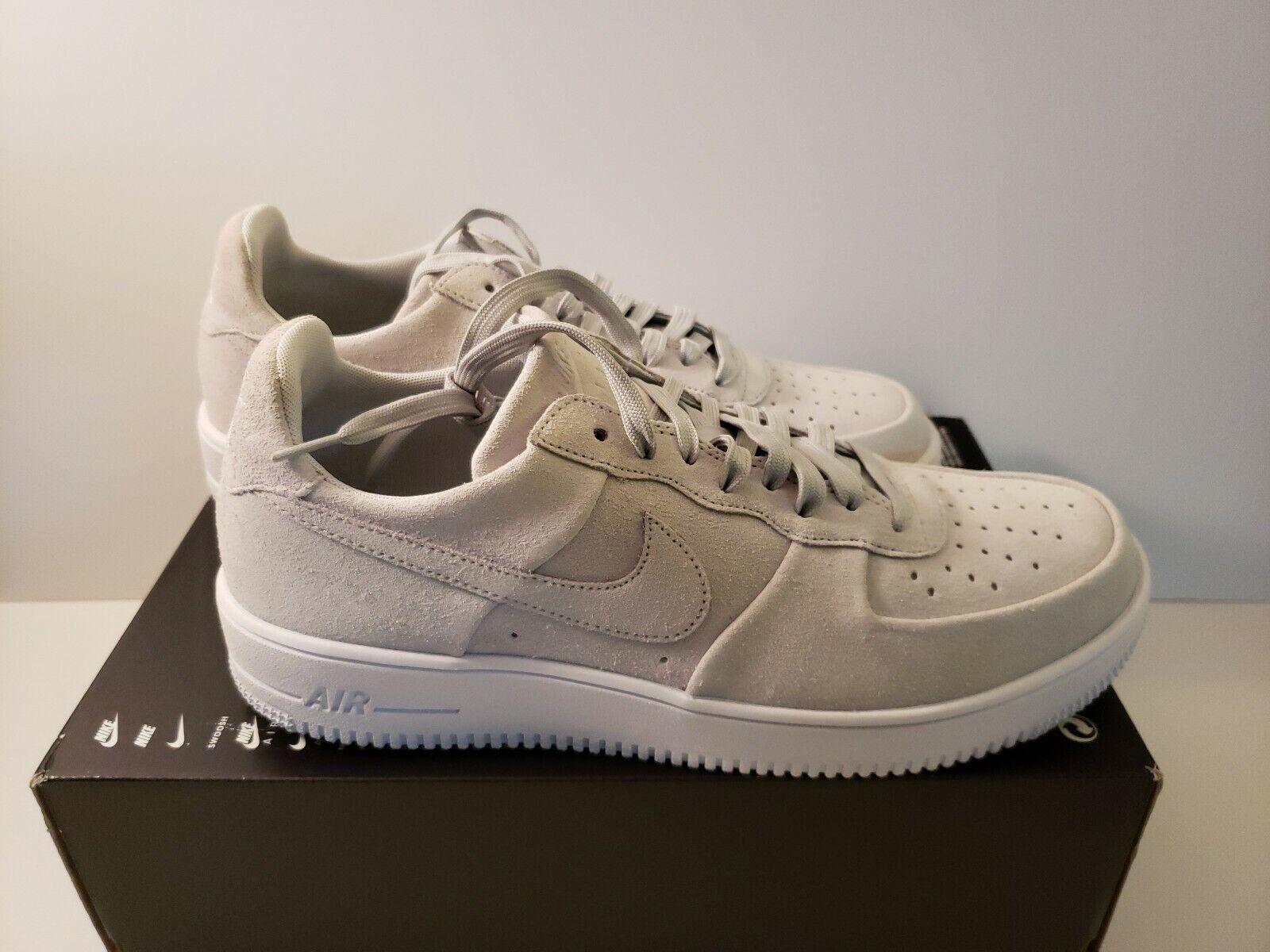NIKE AIR FORCE 1 ULTRAFORCE Sz 11 & 12 12 12 Pure Platinum White 818735-005 Mens shoes cc7fba