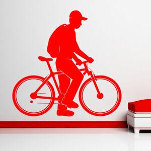 Mountain-Biking-Pared-Pegatina-Vinilo-Arte-Carreras-Tienda-Bicicleta-Sport-mb30