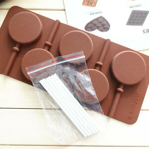 5-Capacity-Round-Silicone-Lollipop-Mold-Sticks-Baking-Hard-Candy-Pop-Mould-Tray